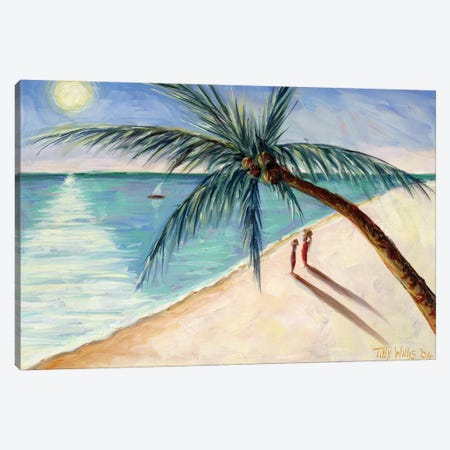 Rustling Palm Canvas Print #TWI13} by Tilly Willis Canvas Print