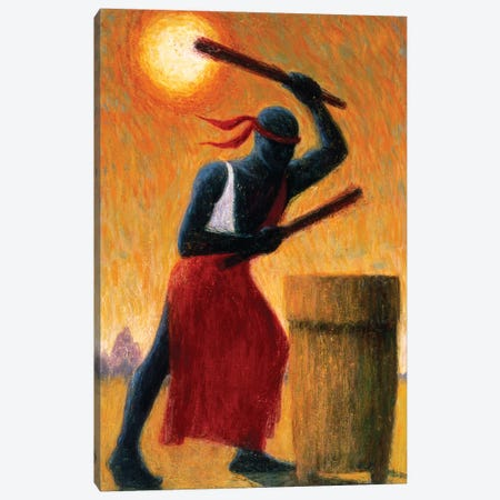 The Drummer Canvas Print #TWI18} by Tilly Willis Art Print
