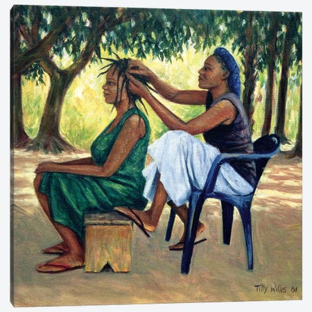 The Hairdresser Canvas Print #TWI19} by Tilly Willis Canvas Print