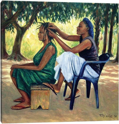 The Hairdresser Canvas Art Print