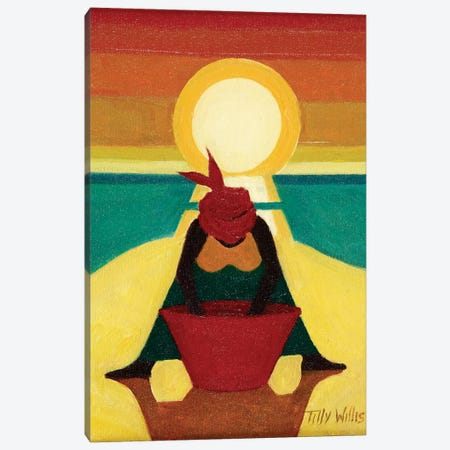 African Sunset Canvas Print #TWI1} by Tilly Willis Art Print