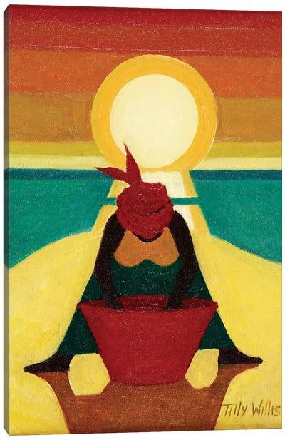 African Sunset Canvas Art Print