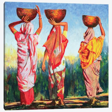 Three Women Canvas Print #TWI22} by Tilly Willis Canvas Art