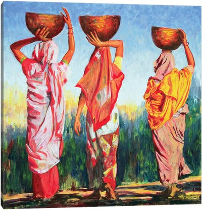 Three Women Canvas Art Print