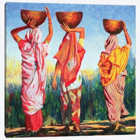 Three Women Canvas Print #TWI22} by Tilly Willis Canvas Art