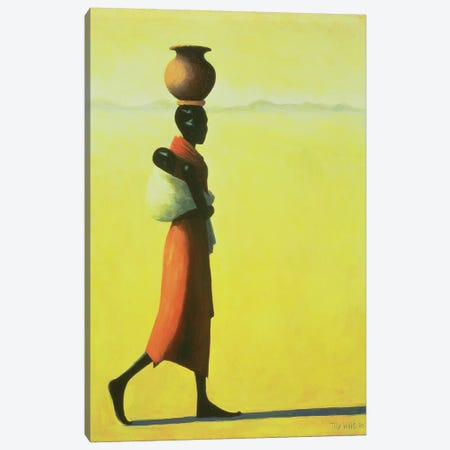 Woman Walking Canvas Print #TWI29} by Tilly Willis Canvas Wall Art