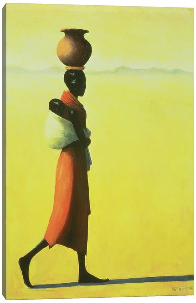 Woman Walking Canvas Art Print