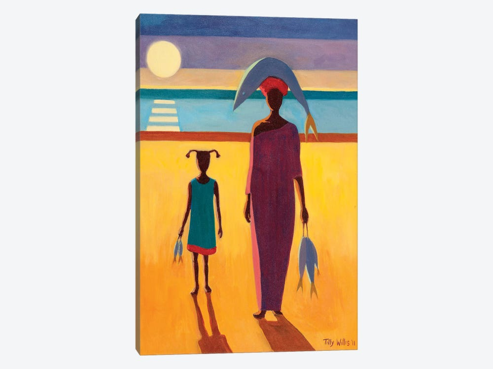 Woman With Fish by Tilly Willis 1-piece Canvas Art Print