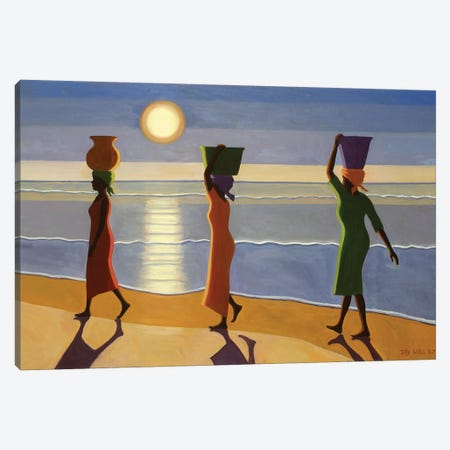 By The Beach Canvas Print #TWI4} by Tilly Willis Canvas Artwork