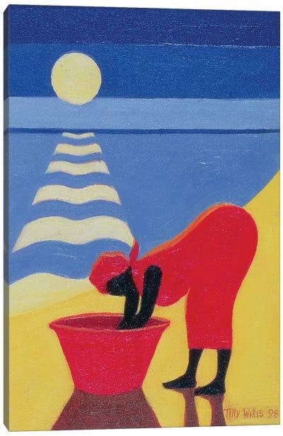 By The Sea Shore Canvas Art Print