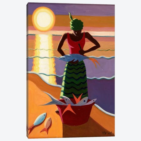 Fish Wife Canvas Print #TWI7} by Tilly Willis Canvas Wall Art