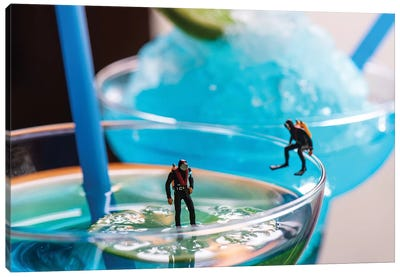 Cocktail Divers Canvas Art Print