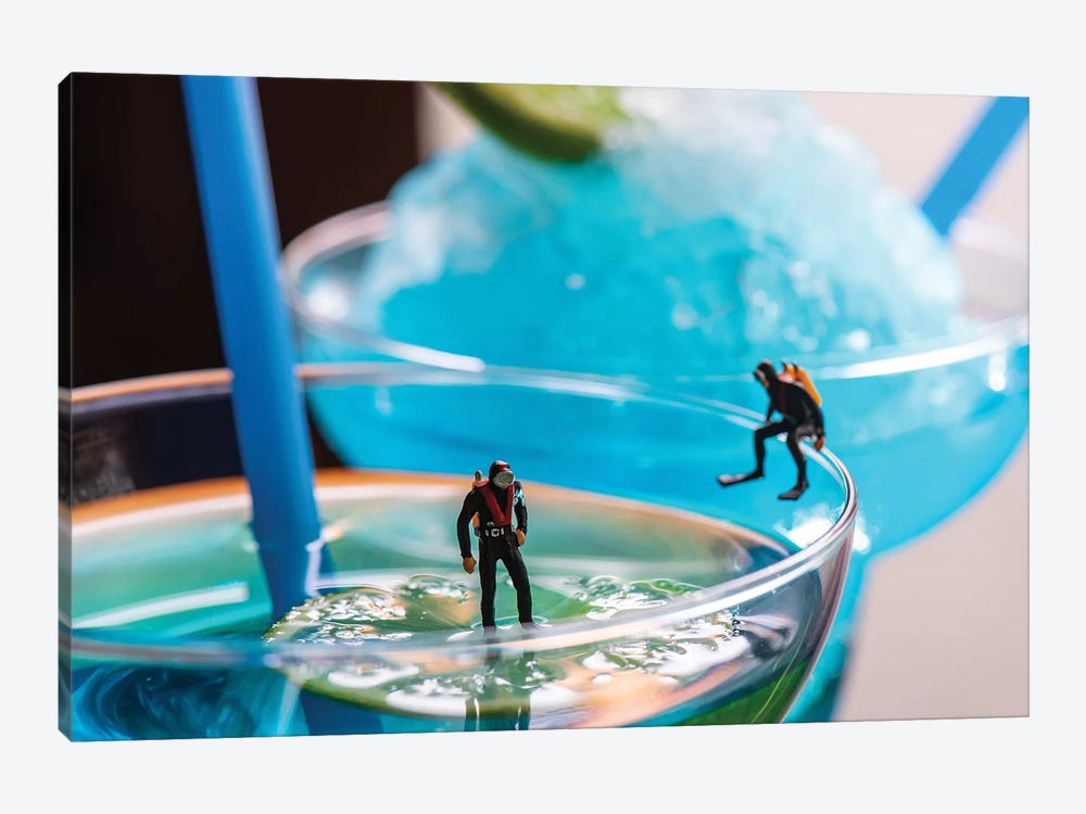 Cocktail Divers by Tiny Wasteland 1-piece Art Print