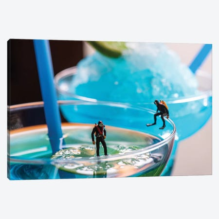 Cocktail Divers Canvas Print #TWL10} by Tiny Wasteland Canvas Artwork