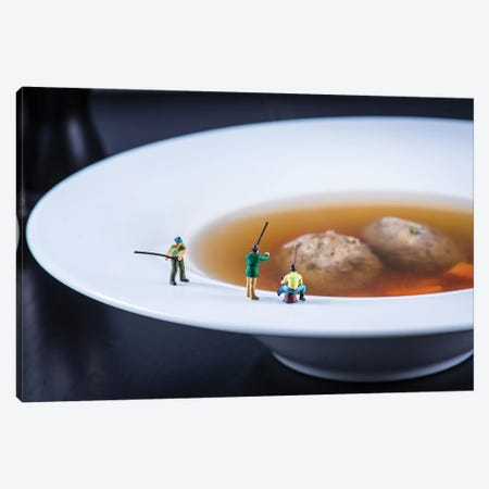 Fishermans Soup Canvas Print #TWL15} by Tiny Wasteland Art Print