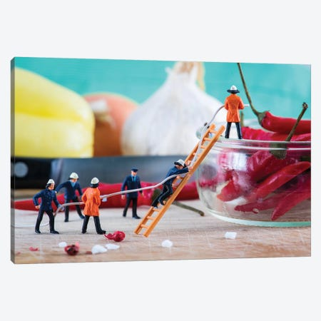 Hot Chili Alert Canvas Print #TWL19} by Tiny Wasteland Canvas Artwork