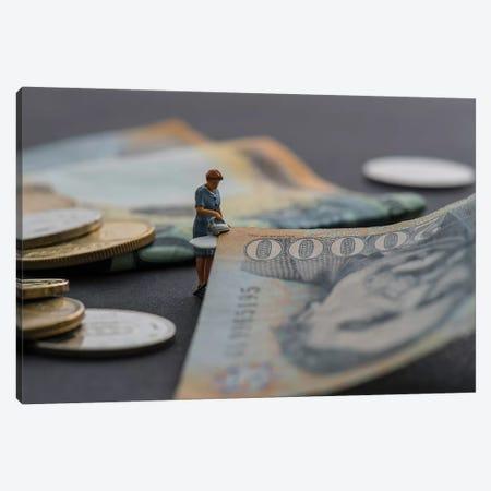 Money Laundering Canvas Print #TWL23} by Tiny Wasteland Art Print