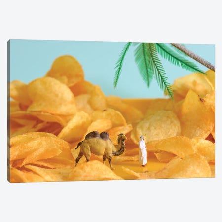Chips Desert Canvas Print #TWL50} by Tiny Wasteland Canvas Art