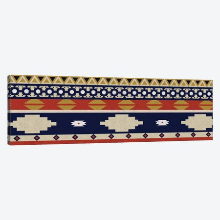 Blue & Orange Tribal Pattern I Canvas Print #TXT10} by 5by5collective Canvas Art