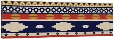 Blue & Orange Tribal Pattern I Canvas Art Print