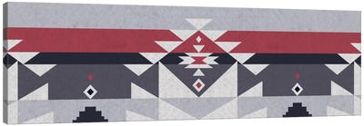 Wolf Gray Tribal Pattern Canvas Art Print