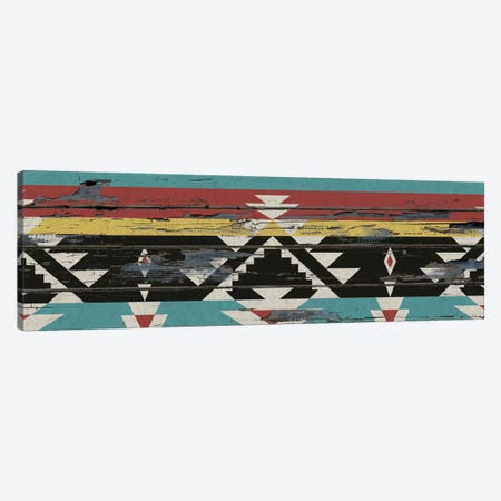 Multicolor Tribal Pattern on Wood Canvas Print #TXT13} by 5by5collective Canvas Artwork