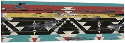 Multicolor Tribal Pattern on Wood Canvas Art Print