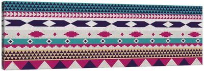 Purple & Blue Tribal Pattern Canvas Art Print