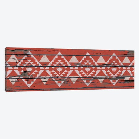 Red Tribal Pattern on Wood Canvas Print #TXT15} by 5by5collective Canvas Art Print