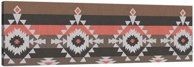 Grey, Black & Red Tribal Pattern I Canvas Art Print