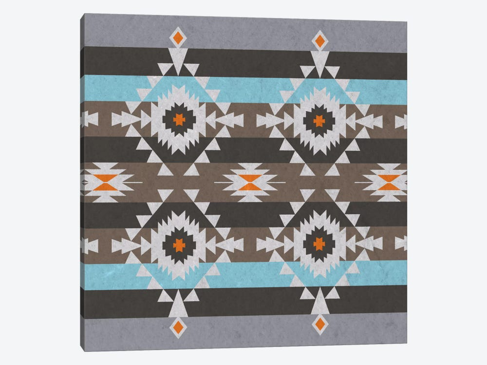 Quad Tribal Pattern by 5by5collective 1-piece Canvas Art Print