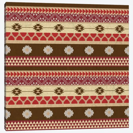 Brown & Red Tribal Pattern Canvas Print #TXT23} by 5by5collective Canvas Art Print