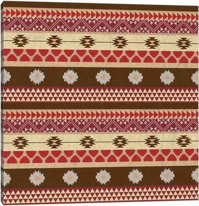 Brown & Red Tribal Pattern Canvas Art Print