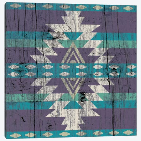 Midnight Tribal Pattern on Wood Canvas Print #TXT25} by 5by5collective Canvas Wall Art