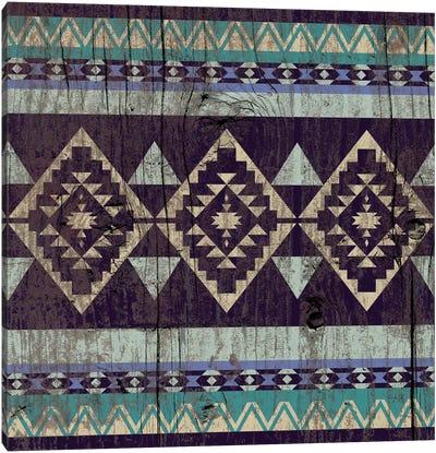 Deep Purple Tribal Pattern on Wood Canvas Art Print