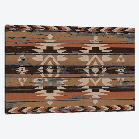 Sands Tribal Pattern on Wood Canvas Print #TXT28} by 5by5collective Art Print