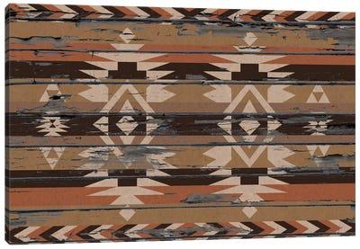 Sands Tribal Pattern on Wood Canvas Art Print
