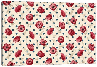 Floral Polka Dots #2 Canvas Art Print