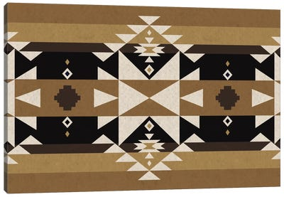 Sandy Black Tribal Pattern Canvas Art Print