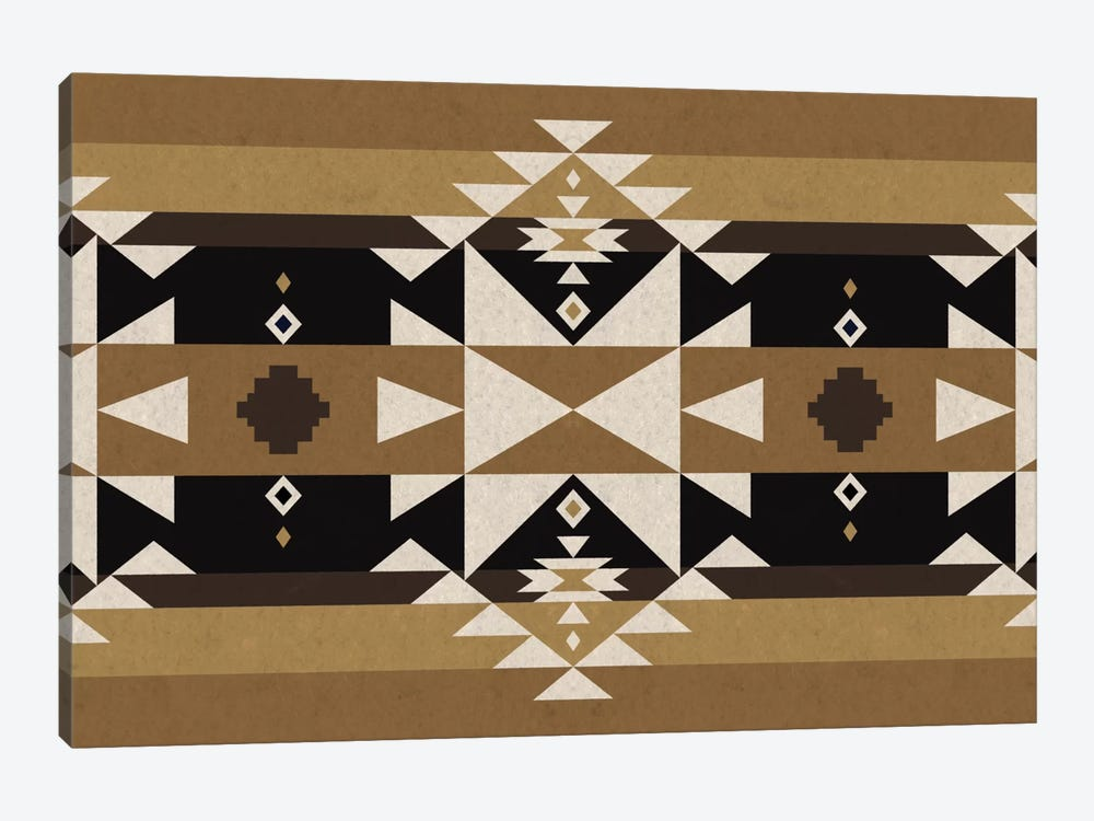 Sandy Black Tribal Pattern by 5by5collective 1-piece Canvas Artwork