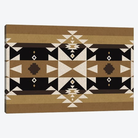Sandy Black Tribal Pattern Canvas Print #TXT30} by 5by5collective Canvas Wall Art