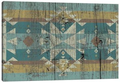 Daylight Tribal Pattern on Wood Canvas Art Print