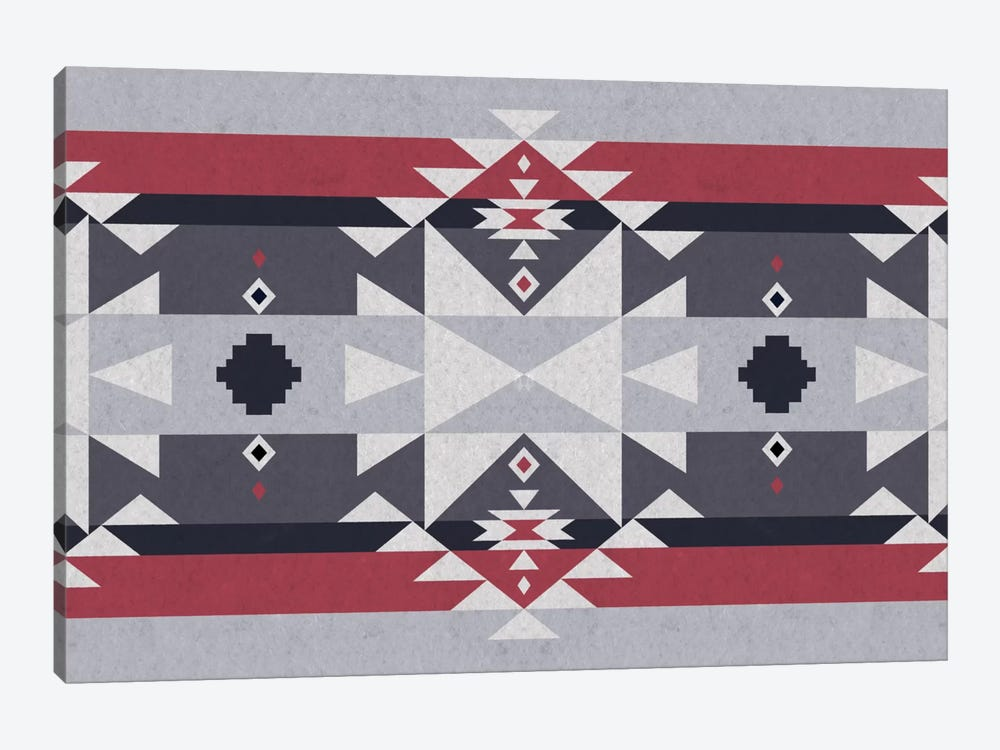 Red and Gray Tribal 1-piece Canvas Wall Art
