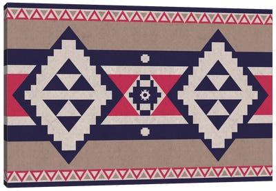 Blue & Pink Tribal Pattern Canvas Art Print
