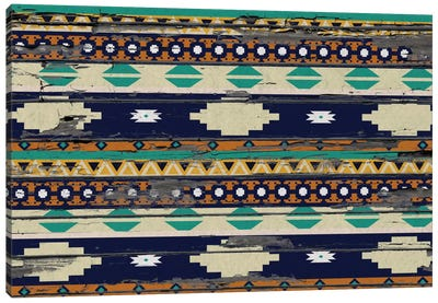 Tribal Blue and Yellow Canvas Print #TXT37