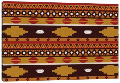 Bold Tribal Pattern Canvas Art Print