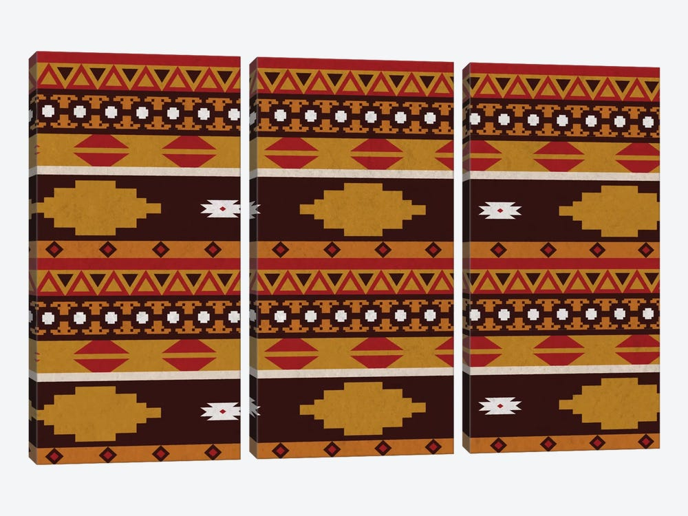 Bold Tribal Pattern by 5by5collective 3-piece Canvas Artwork