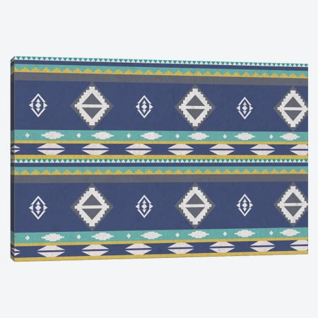 Ice Blue Tribal Pattern Canvas Print #TXT39} by 5by5collective Canvas Wall Art