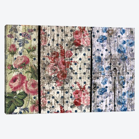 Floral Woodgrain Canvas Print #TXT3} by Unknown Artist Canvas Art
