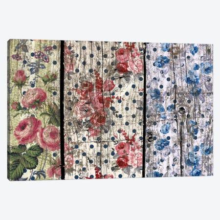 Floral Woodgrain Canvas Print #TXT3} by Unknown Artist Canvas Art